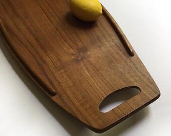 Mid Century Modern MCM Vintage Dansk JHQ Surfboard Tray Teak Wood Wooden Jens Quistgaard Excellent Condition