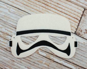 Stormtrooper Mask - felt Stormtrooper mask for Parties, Halloween, Dress-up, Stormtrooper Halloween Mask, Stormtrooper Halloween Costume