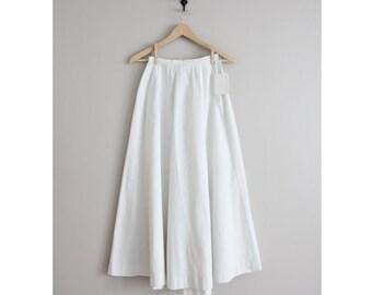 1900s white linen skirt | gored skirt