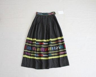 1950's guatemalan skirt | vintage 50s skirt