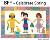 Paper doll Quilt BFF Celebrate Spring