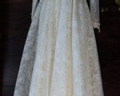 Boho wedding dress cream  lace floaty maxi ruffles hippie outdoor long sleeve vintage  romantic small  by vintage opulence on Etsy