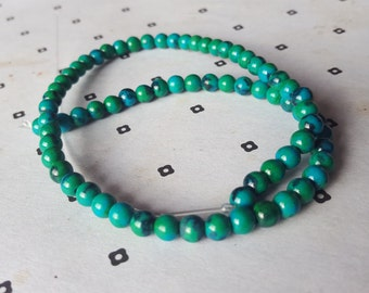 6mm Green and Blue Dyed Jade full strand