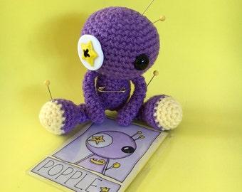 Popple the Amigurumi Purple Voodoo Doll