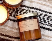 No. 11: AMBER & MOSS - 7.2 oz soy candle - clean masculine / unisex scent - P.F. Candle Co.