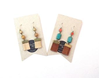 Leather Earrings // Turquoise Earrings // Fringe Earrings // Tassel Earrings // Boho Earrings // Gifts for Women // Gifts Under 30