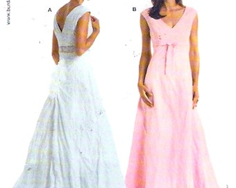 Brides Wedding dress evening gown Bridesmaid bustle back sewing pattern Burda 8056 Sz 10 to 24 Eur 36 to 50 includes plus size