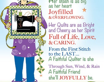 Greeting Card - Faithful Quilter
