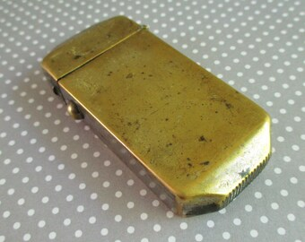Vintage Brass Toned Match Safe