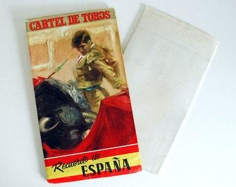 1960s Bullfighting Poster, Matador Bull, Spanish Travel Poster, Toreador, Impressionist Artwork, Vintage Lithograph, Tourist Souvenir