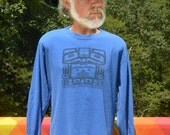 vintage 80s t-shirt SEATTLE totem native art long sleeve tee Large Medium 1985