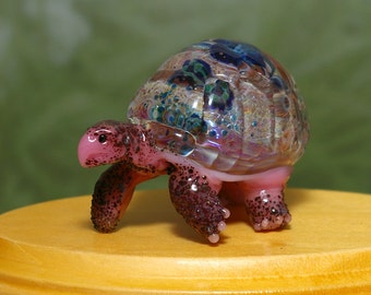 Meditation Tortoise Sculpture - by Cleo Dunsmore Buchanan 11 figurine glass collectible