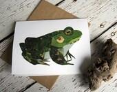 Bullfrog Card of Original Collage