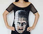 Hellraiser shirt Pinhead tunic top horror alternative clothing gothic apparel top reconstructed
