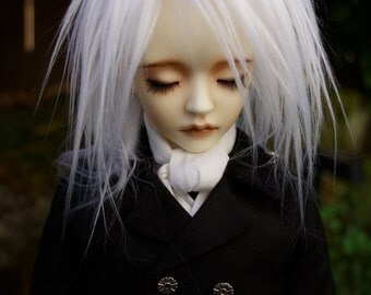 Longest Pure White doll wig SIZE CHOICE faux fur wig BJD