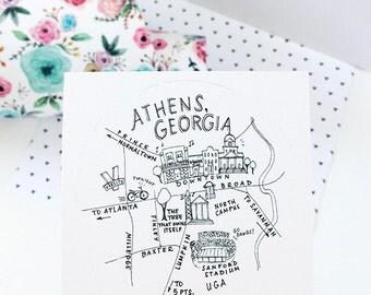 """Athens, Georgia 3"""" Stickers"""
