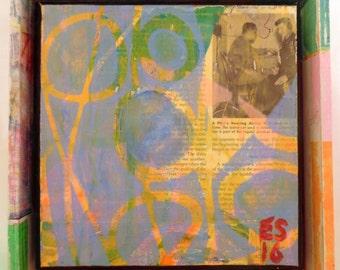 "Custom ""Radio"" - 8 x 8, Acrylic painting, ready to hang, ORIGINAL"