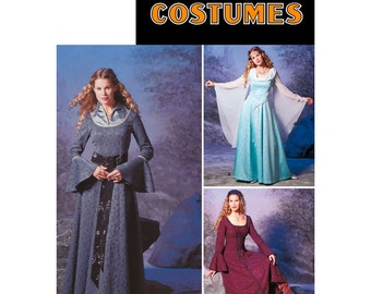 Renaissance Maiden Sewing Pattern Simplicity 9891 Sizes 6-8-10-12 Susan Narnia Archery