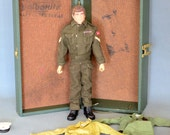 Vintage GI Joe Action Figure with Foot Locker c. 1964