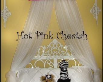 Animal print Crib Crown Canopy Teester Pelmet SALE Upholstered Princess FREE