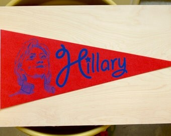 Hillary Clinton Pennant red