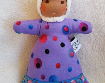 Waldorf inspired Northern Mini Baby ,Purple Dots
