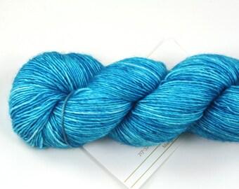Cancun--hand dyed sock weight yarn, merino and silk single ply, (438yds/100gm)