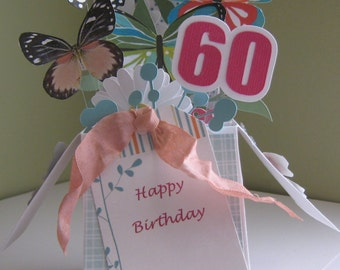 60th Birthday pop up card in a box