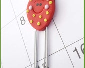 Planner Clip Strawberry Polymer Clay Page Marker Journal Accessory