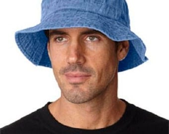PERIWINKLE BLUE XL Bucket Hat - Women or Men Adams Cap - Price Apparel Embroidery - 10 Different Colors