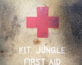 vintage American Red Cross jungle first aid kit / belt pouch
