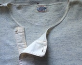 antique ca. early 1900s Winstead Co. half sleeve heathered gray wool thermal henley