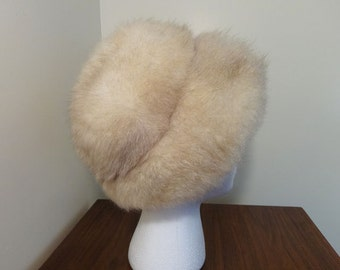 Vintage, White New Zealand Opossum Hat