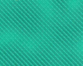 Jade Color Union Bright Circles Kaufman Fabric 1 yard