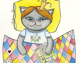 You are My Little Princess Art Print children's illustration 8x10 by Tanya Besedina