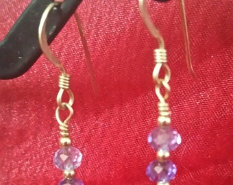 E1076 Blue Sapphire Earrings