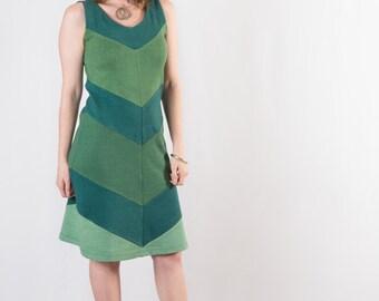 Supernova Dress - Organic Sleeveless Dress with Rich Handdyed Color - Eco Fashion - Hemp Clothing