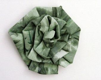 Dried Herb Original Art Brooch - Pin / Art Bloom Series / Wearable Art Brooch / Shades of Sage Green / Artist Original / Gift Under 50