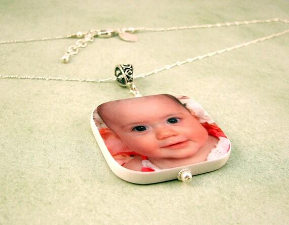 Custom Photo Pendant Necklace - Lg - P1RN