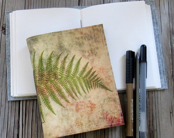 fern botanical journal, diary notebook planner gift giving for under 20