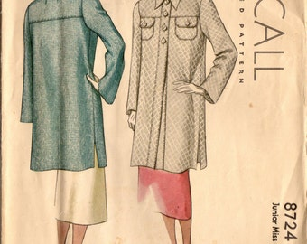 1930s McCall 8724 Vintage Sewing Pattern Junior Miss Short Coat Size 14 Bust 32