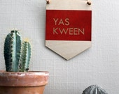 Pop Culture Wall Hanging- Laser cut birch | YAS KWEEN