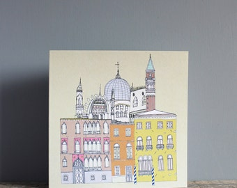Venice Greetings Card Recycled