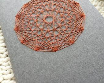 Traverse Notebook - Sacred Geometry - grey with burnt orange