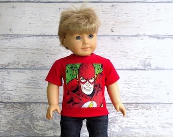 Boy Doll Clothes Graphic Tee Shirt, American Boy Doll T Shirt, Short Sleeve Tee