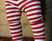Baby Boy, Baby Girl, Red and White Striped Leggings, Valentine's Day, Etsy Kid's Fashion, Toddler Boy, Toddler Girl Valentines Day