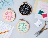Mini Alphabet Embroidery Kit - DIY typography stitch kit