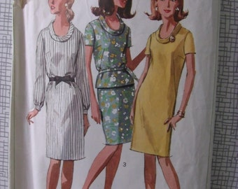 "1966 Dress, Top & Skirt - 34"" Bust - Simplicity 6861 - Vintage Retro 1960s Sewing Pattern"