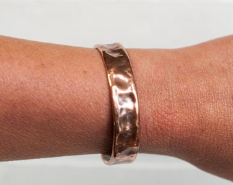 """Dimpled Cuff, 1/2"""" copper cuff, cuff, copper jewelry, copper, stamped, hammered metal, copper bracelet, metal cuff, stacylynnc, handmade"""
