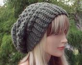 Meadow Green Crochet Hat, Womens Slouchy Beanie, Oversized Slouch Beanie, Chunky Hat, Slouchy Hat, Winter Hat, Slouch Hat